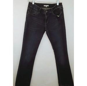CAbi straight slightly flare leg Jean's